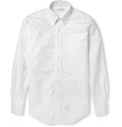 Thom Browne - Button-Down Collar Cotton Oxford Shirt