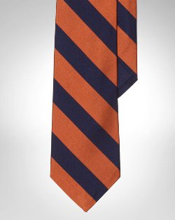 Polo Ralph Lauren - Striped Silk Repp Narrow Tie