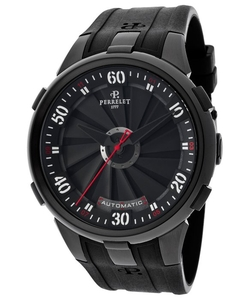 Perrelet  - Turbine Automatic Black Rubber And Dial Watch
