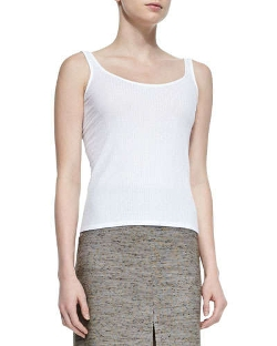 The Row - Kim Ribbed Jersey Tank Top