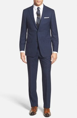 Michael Kors - Trim Fit Windowpane Wool Suit