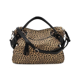 Money Money - Leopard Satchel Bag