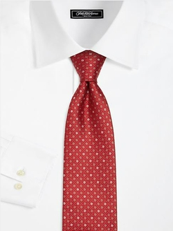 Saks Fifth Avenue Collection  - Textured Dot Silk Tie