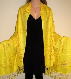 Yours Elegantly - Very Yellow Pashmina Embroidered Wrap