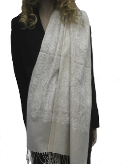Cashmere Pashmina Group - Crewel Embroidery Shawl Scarf