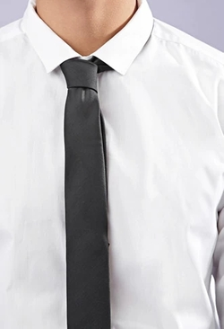 21 Men - Solid Woven Skinny Tie