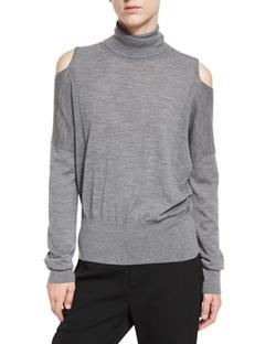 Vince - Cold-Shoulder Turtleneck Sweater