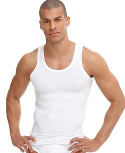 Emporio Armani  - Stretch Cotton Logo Tank