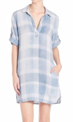 Bella Dahl  - Plaid A-Line Shirt Dress