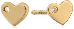 Shy By Sydney Evan - Heart Stud Earrings