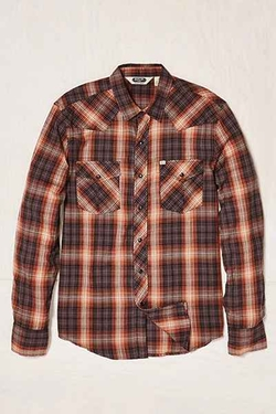 Urban Outfitters - Salt Valley Shadow Plaid Western Button-DownShirt