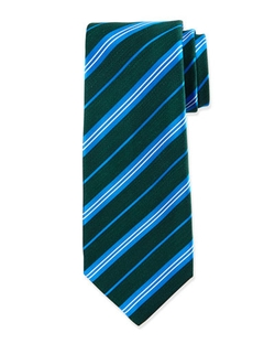 Kiton - Diagonal-Stripe Silk Tie