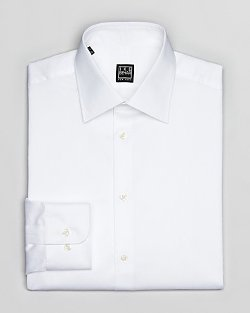 Ike Behar  - Herringbone Solid Dress Shirt