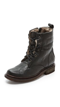 Frye  - Valerie Lace up Shearling Boots