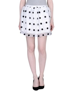 Baguette..... - Polka Dots Mini Skirt