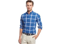 Tommy Hilfiger  - Dock Plaid Custom-Fit Shirt