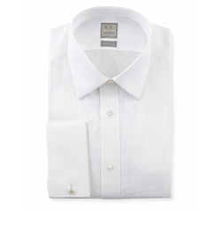 Ike Behar - Pleated Tuxedo Shirt