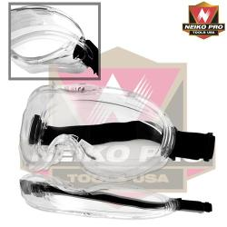 Neiko - Anti-Fog Approved Wide-Vision Extra-Soft Lab Safety Goggle