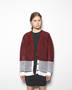 Alexander Wang - Bi-Color Sport Net Cardigan