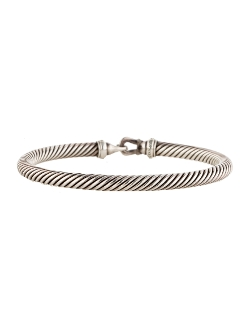 David Yurman  - Diamond Cable Buckle Bracelet