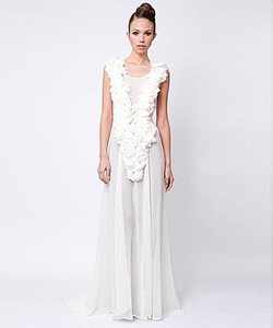 Adolfo Sanchez - Flori Blanc Dress