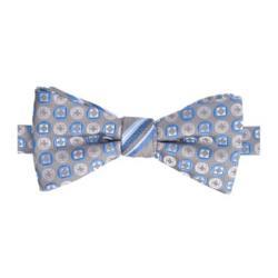 Stafford  - Boo Stripe Pre-Tied Contrast Knot Bow Tie
