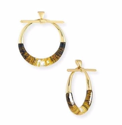 Alexis Bittar - Pierced Liquid Hoop Drop Earrings