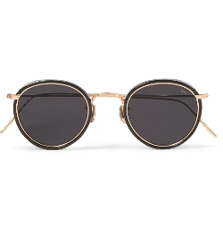 Eyevan 7285 - Round-Frame Acetate And Metal Sunglasses