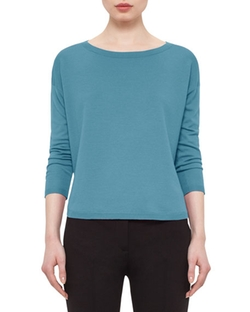 Akris Punto - Round-Neck Long-Sleeve Sweater