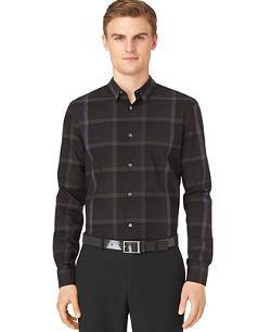 Calvin Klein - Large Ombre Plaid Shirt