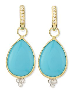 Jude Frances Jewelry	  - Large Pear Turquoise Earring
