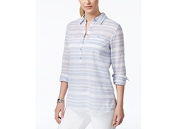 Tommy Hilfiger  - Striped Button-Down Popover Shirt