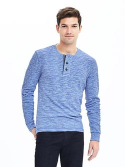 Banana Republic - Heritage Blue Slub Henley Shirt