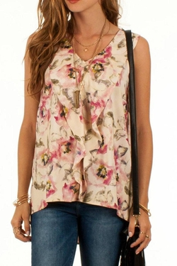 Black Swan - Elegant Floral Top