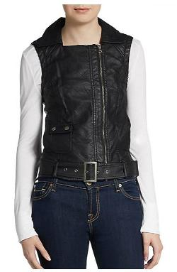 French Connection  - Thea Belted Faux Leather Vest