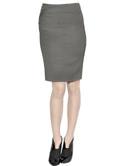 Emporio Armani  - Stretch Wool Blend Pencil Skirt