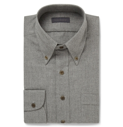 Thom Sweeney - Brushed-Cotton Shirt