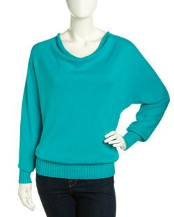 Lafayette 148 New York  - Cowl-Neck Draped Knit Sweater
