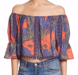Tularosa  - Alexa Off Shoulder Floral Top