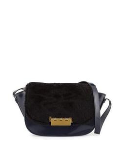 Zac Zac Posen  - Eartha Leather & Shearling Crossbody Bag