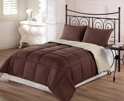 Chezmoi Collection - Goose Down Alternative Reversible Comforter
