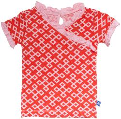 Poppy Geo Lattice-Newborn - Kickee Pants Print Kimono Tee