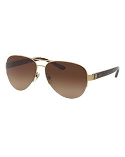 Tory Burch  - Metal Aviator Sunglasses