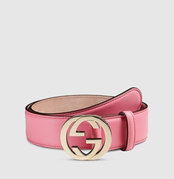 Gucci - Leather Belt with Interlocking G Buckle