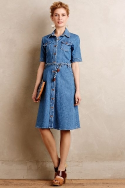 Anthropologie - Mih Denim Shirtdress