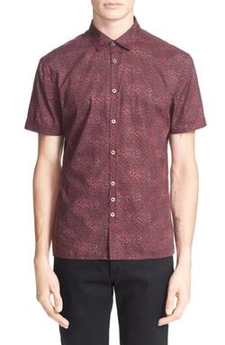 John Varvatos Collection  - Trim Fit Print Short Sleeve Shirt