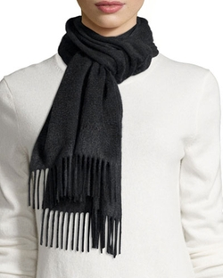 Burberry	  - Embroidered Cashmere Scarf