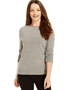 Karen Scott  - Solid Boat-Neck Sweater