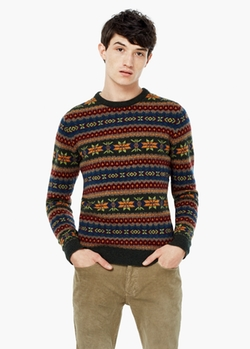Mango - Fair Isle Wool Sweater