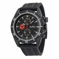 Michael Kors  - Jet Master Chronograph Black Rubber Mens Watch